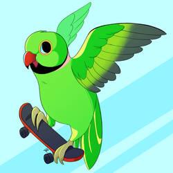Flyin thru the air by SlushiOwl