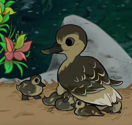 A Bunch of Baby Ducks by SlushiOwl
