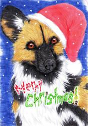 Wild Dog Christmas 2010 by Pawlove-Arts