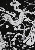 Monochrome Night by Pawlove-Arts