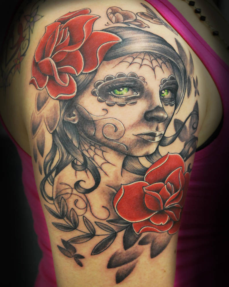 Sugar Skull Girl Tattoo By Joshing88 On Deviantart