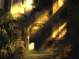 [Premade Background] Medieval Passage by Rowye