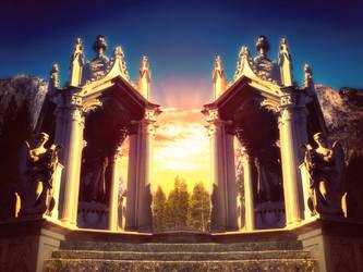 [Premade Background] Altar Freebie by Rowye