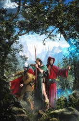 The Three Adventurers by Rowye