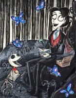 Inktober - Butterflies in the woods by Madame-Kikue