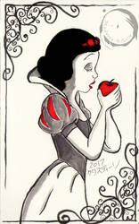 Inktober - Snow White and the Poison Apple by Madame-Kikue