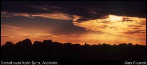Sunset over Kata Tjuta by aCreature