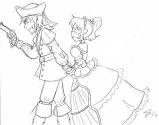 Princess and the Pirate by Escafa