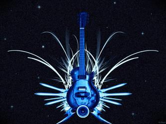 Guitar Of Ice Sword by Darin69