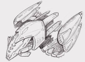 Star trek ship sketch by ninjha