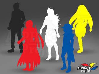 ALPHA3Project - Protagonists preview by GrimAngel666