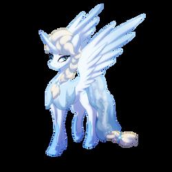 Snow Alicorn Queen Elsa by Dynasty-Dawn