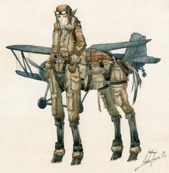 pilot militaur by AYUVOGUE