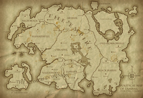 Political Map of Tamriel 4E193 - Revised by Jakhajay