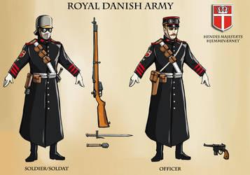 Royal Danish Uniforms by Levskicomic