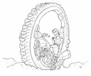 Monowheel Punk (line) by VanBurenPhilips