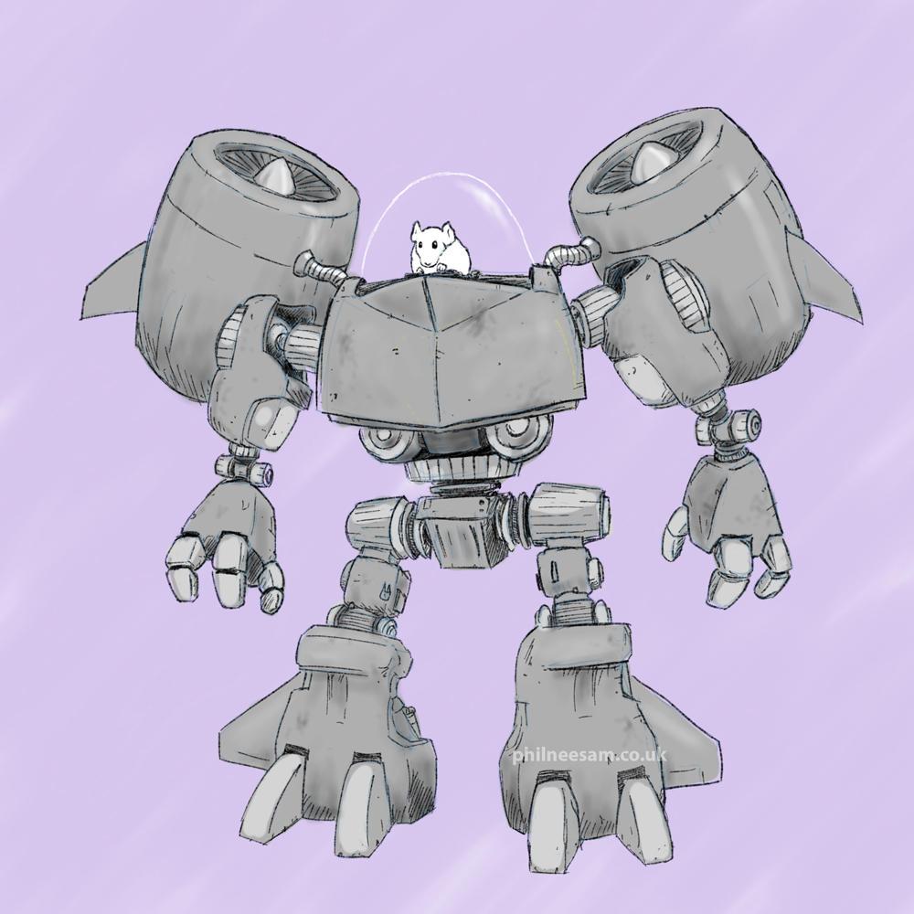 Chinchilla robot power armour by VanBurenPhilips