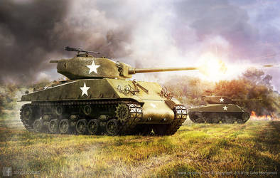 Sherman's Attack! by Oxygino