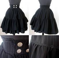 Pirate Maiden Highwaist Skirt by DieTotgeburtDesZeus