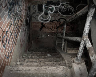 Crumbling Stairway by Deadly-Creative