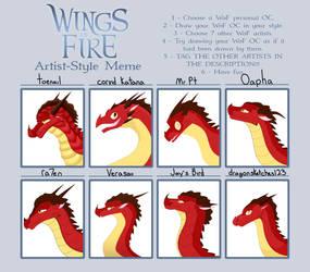 Wings of Fire - Artist Style Meme by Toenailish