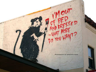 Banksy's Rat 04. by GermanCityGirl