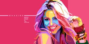 Shakira in WPAP by toniagustian