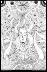 Lovecraft - Line Art by drwestlake