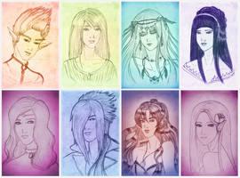 REQUEST : Sketch Portrait III by MaeDreaM