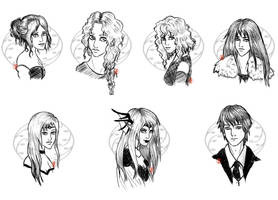 Lottery Sketches by MaeDreaM