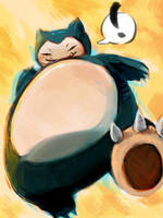 Snorlax by Sheeters
