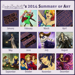 2014 summary of art by SophieBrigitteXD