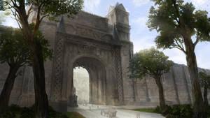 A Gate of Flora Village by dmsdud