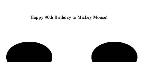 Happy 90th Birthday to Mickey Mouse! by Vuxovich