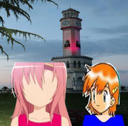 Hinagiku, Misty and Chacha Clock Tower by Vuxovich