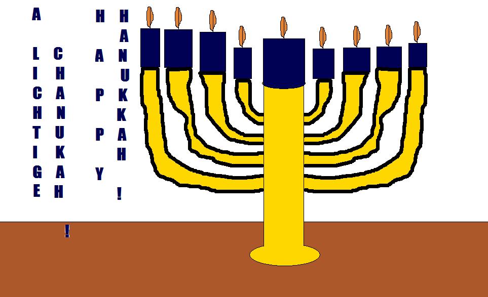 Happy Hanukkah! by Vuxovich