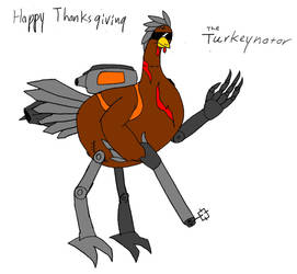 The Turkeynator (Happy Thanksgiving) by JacobTheDragon