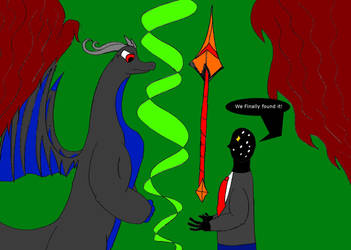 Zero and Suber finds the Spear of Sinnu by JacobTheDragon