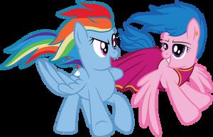 Rainbow Dash and Fire Fly Vector by MLP-Mayhem