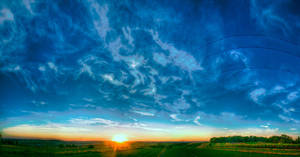 sky above the village HDR 8 by Dziubek304