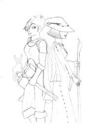 Mistrian and Predak by SpikyhairdVash
