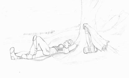 Mistrian Relaxing by SpikyhairdVash