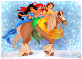 Secret Santa - Winter Mermaids by Paola-Tosca