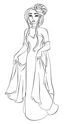 Poca as Anastasia - Lineart by Paola-Tosca