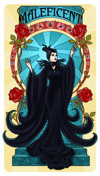 Maleficent - Art Nouveau by Paola-Tosca