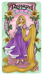 Rapunzel - Art Nouveau by Paola-Tosca