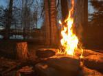 Fire in the night by midvinterdraken