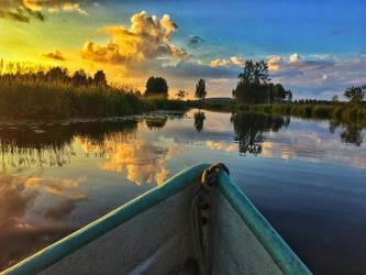 Sunset sail by midvinterdraken