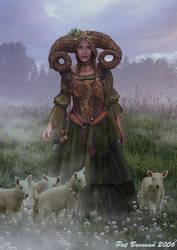 The Shepherdess by patriciabrennan