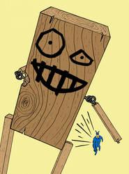 Little Wooden Boy -- ATTACK by adamcasey